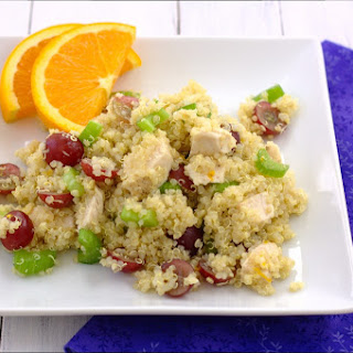 Quinoa Salad with Grapes, Celery, and Chicken