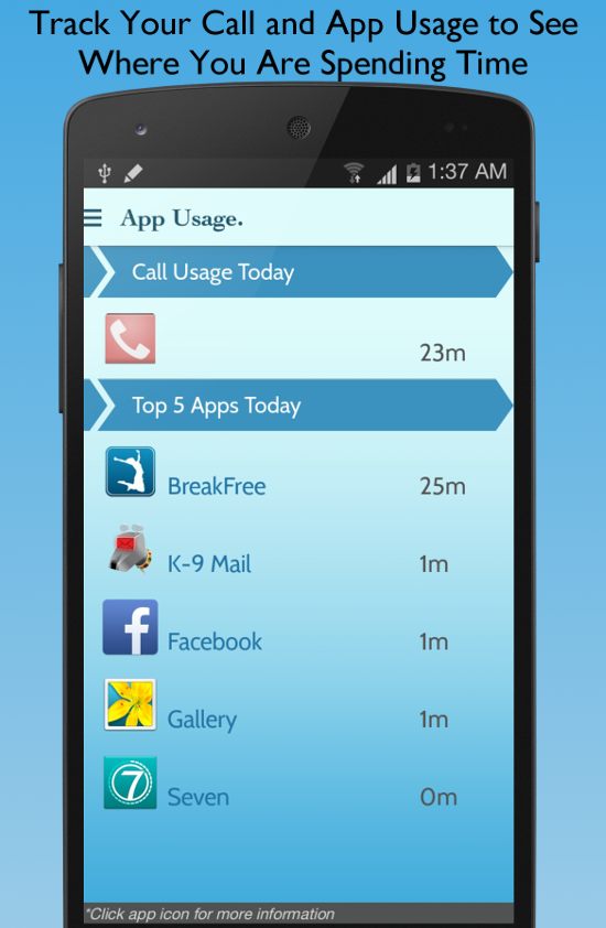 BreakFree Cell Phone Addiction - screenshot