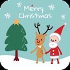 Santa and Rudolph Christmas icon