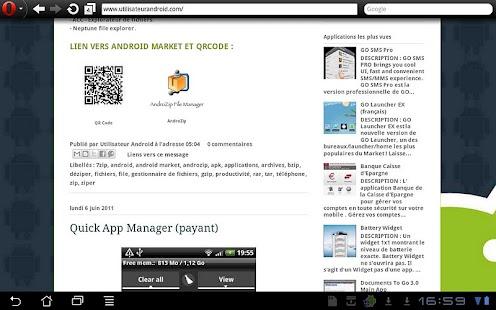 Blog Utilisateur Android - screenshot thumbnail