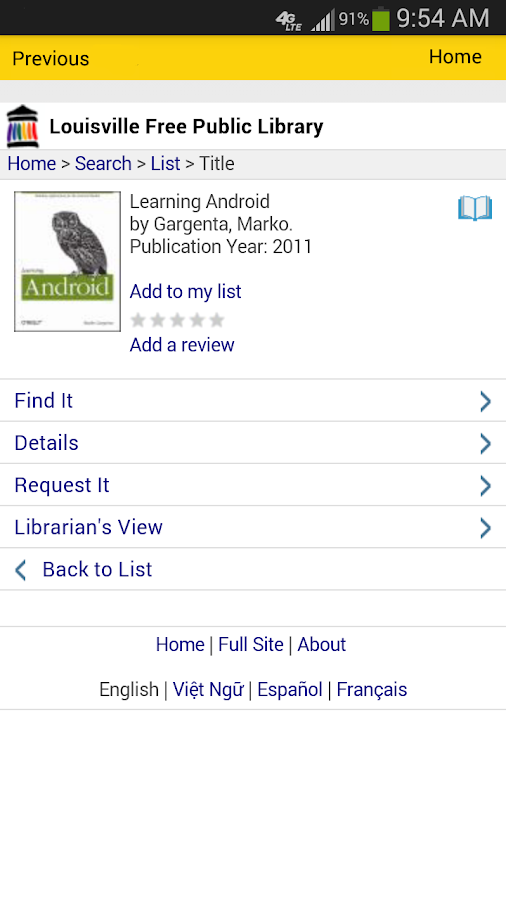 LFPL Mobile - screenshot