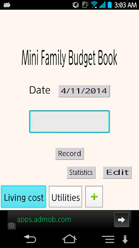 Mini Family Budget Book