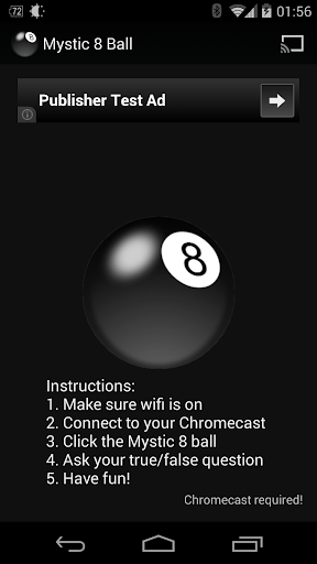 Mystic 8 Ball Chromecast