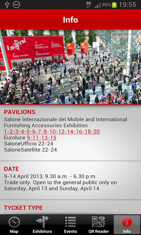 iSaloni 2013 – official APP - screenshot