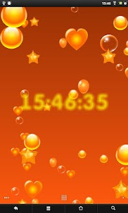 Balloons around clock screenshot
