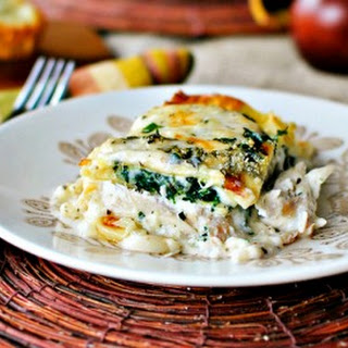 White Cheese and Chicken Lasagna.