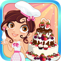 Cute Baker Wedding Cake icon