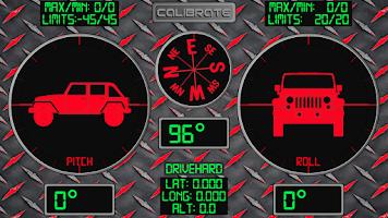 Screenshot of RMO Trial - Inclinometer 4X4