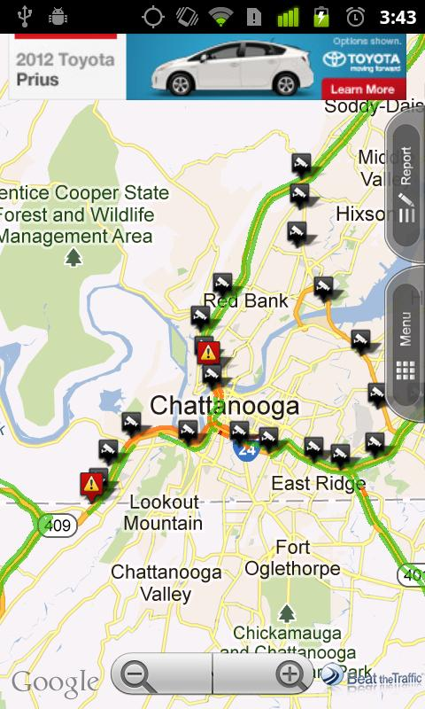 WRCB Chattanooga Traffic - screenshot