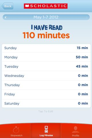Scholastic Reading Timer - screenshot