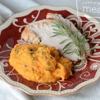 Turkey with Cauliflower Carrot Herb Mash