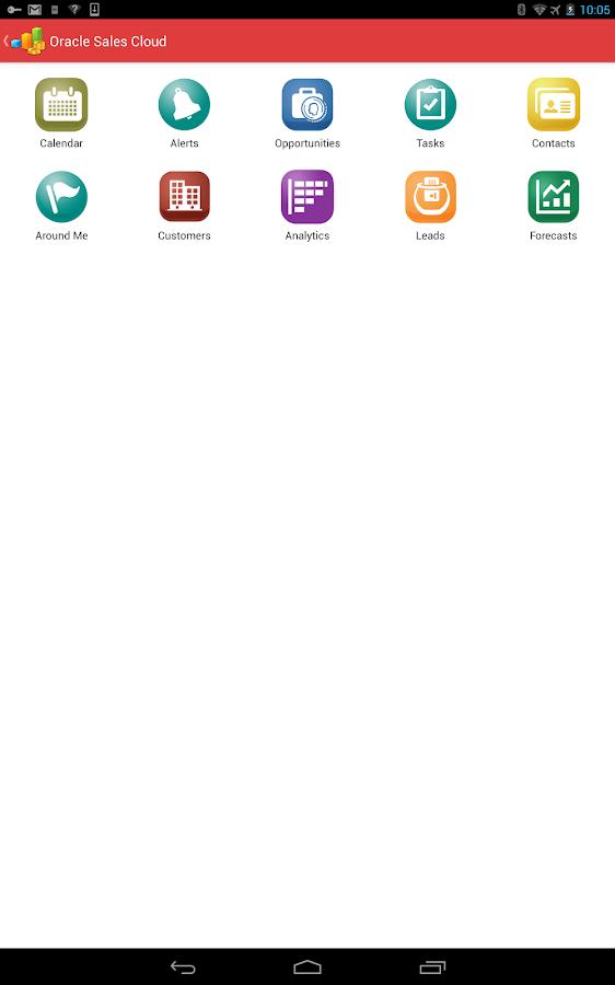 Oracle Sales Cloud Mobile - screenshot