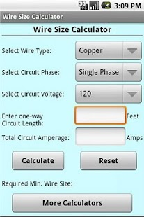 Wire size calculator free android app market prev greentooth Images