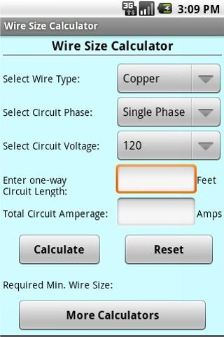 Wire size calculator android apps on google play wire size calculator screenshot greentooth Images