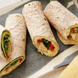 Hummus and Grilled Vegetable Wrap.