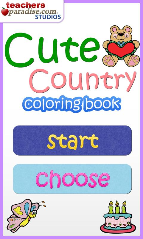 Cute Country Coloring Book - screenshot