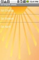 Screenshot of Sai Sangrah (Hindi)