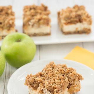 Caramel Apple Crumble Cheesecake Bars