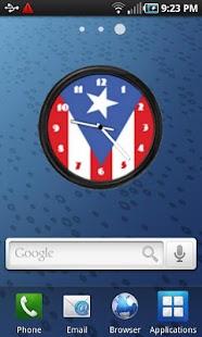Puerto Rico Flag Clock2 Widget- screenshot thumbnail