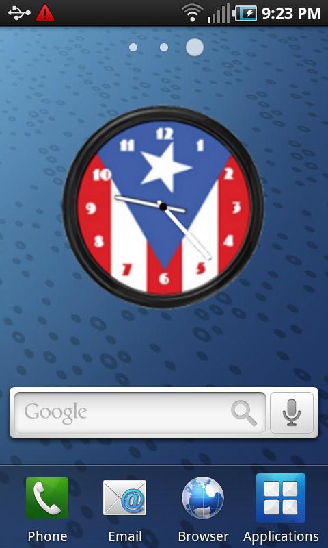 Puerto Rico Flag Clock2 Widget- screenshot