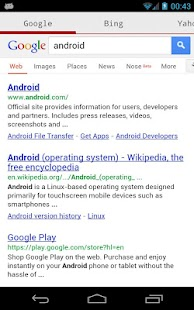 Search Google Yahoo Bing Wiki - screenshot thumbnail