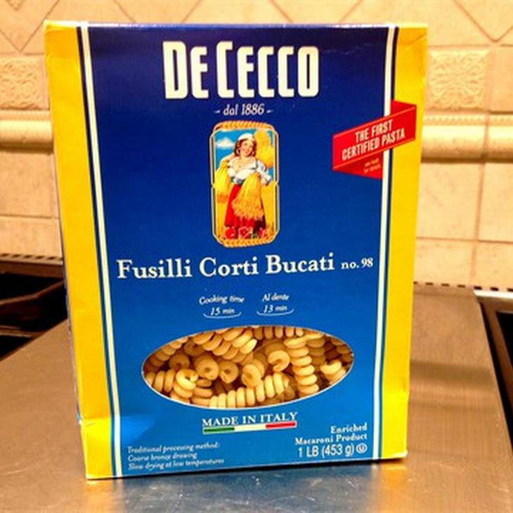 Italian Vegetable Fusilli with Basil Mint Pesto
