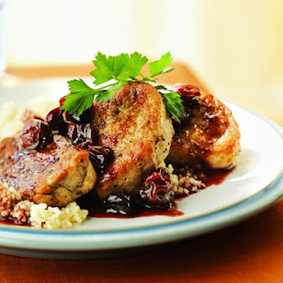 Cooking Light's Pork Medallions with Port Wine-Dried Cherry Pan Sauce.