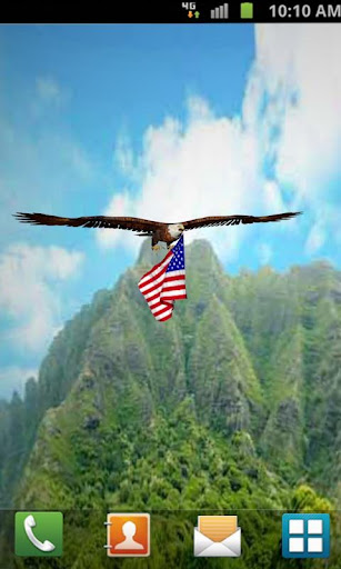 【免費個人化App】Eagle flag 3D Live Wallpaper-APP點子