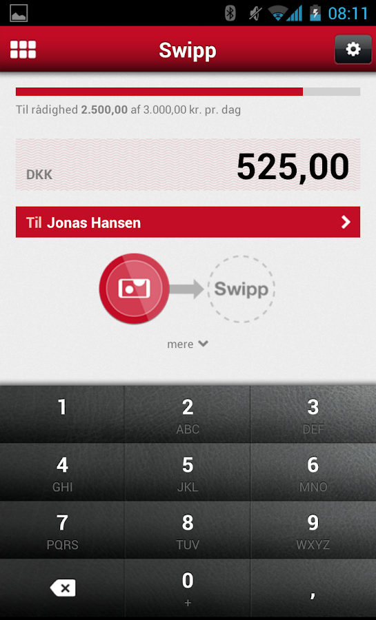 Østjydsk Banks MobilBank - screenshot