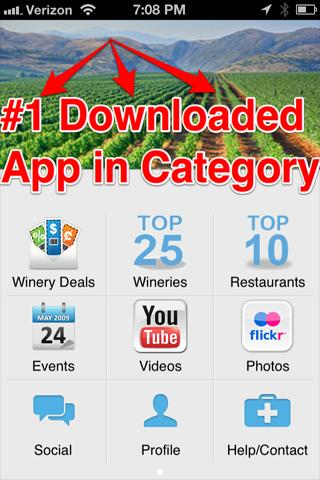 Napa Valley #1 Downloaded App! - screenshot