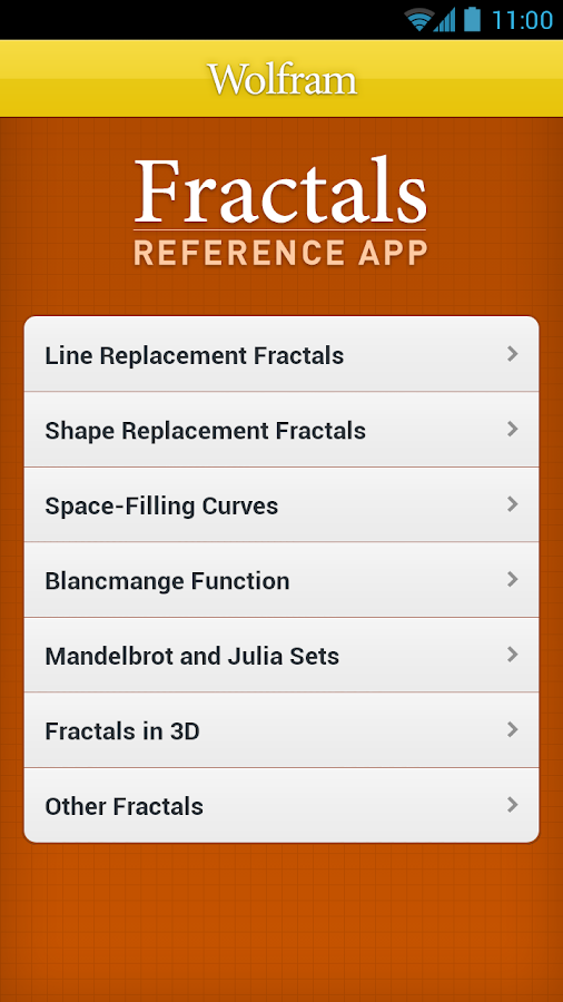 Fractals Reference App- screenshot
