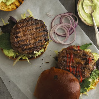 Saigon Burgers with Ginger Glaze and Thai Basil Mayo.