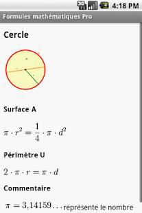 玩教育App|Formules mathématiques Pro免費|APP試玩