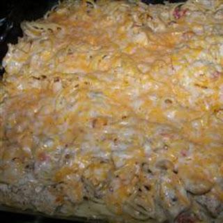 Spaghetti Chicken Casserole.