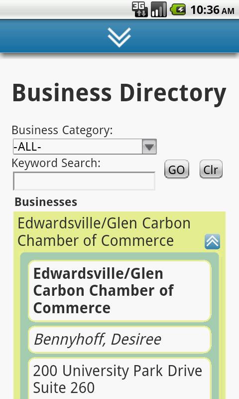 EdwardsvilleGlenCarbon Chamber- screenshot