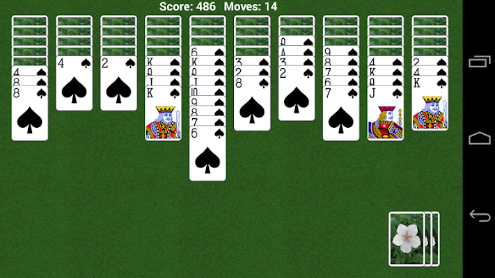 Spider Solitaire for all - screenshot