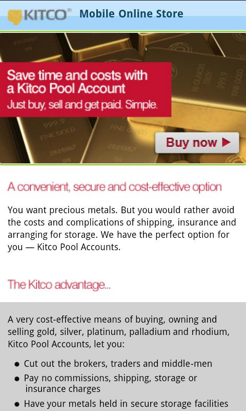 Buy Silver Gold from Kitco- screenshot