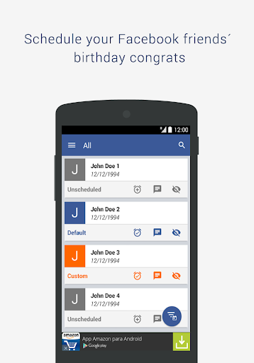 BSF: Birthday Scheduler for Fb