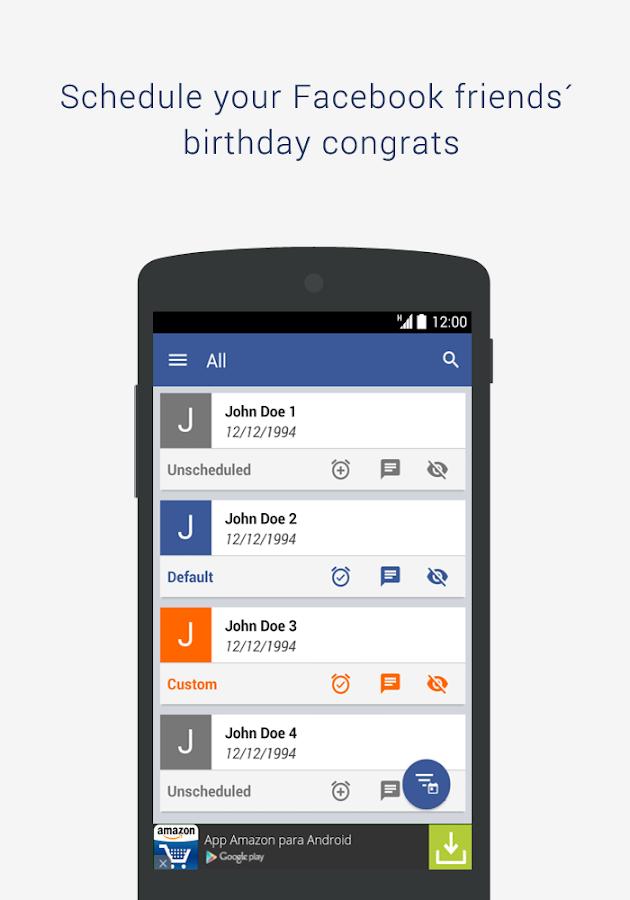BSF: Birthday Scheduler for Fb - screenshot