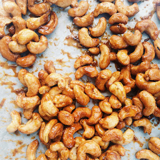 Honey and Mustard Roasted Cashews