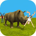 Rhino Simulator 3D icon