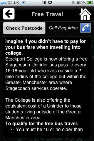 Stockport College- screenshot