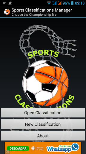 Sports Classifications Manager