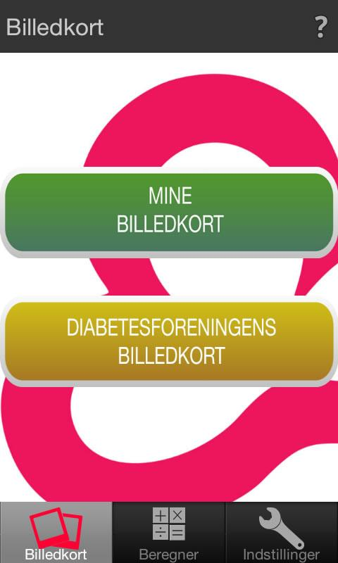Diabetes og kulhydrattælling- screenshot