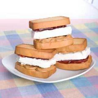 Peanut Butter & Jelly Ice Cream Sandwiches.