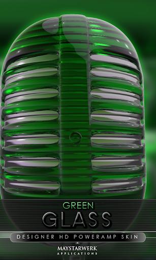 ガラス poweramp 皮膚緑