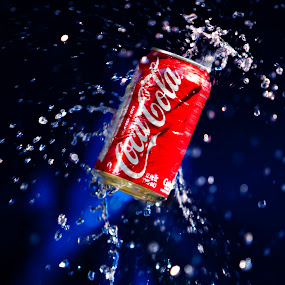 This Coke is for you. by Dale Frazier - Food & Drink Alcohol & Drinks ( refreshing, splashing, splash, refreshment, drink, cold drink, , colorful, mood factory, vibrant, happiness, January, moods, emotions, inspiration )