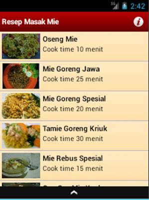 Resep Masak Mie - screenshot