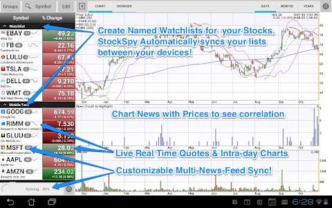 Stocks: Realtime Quotes Charts v2.7