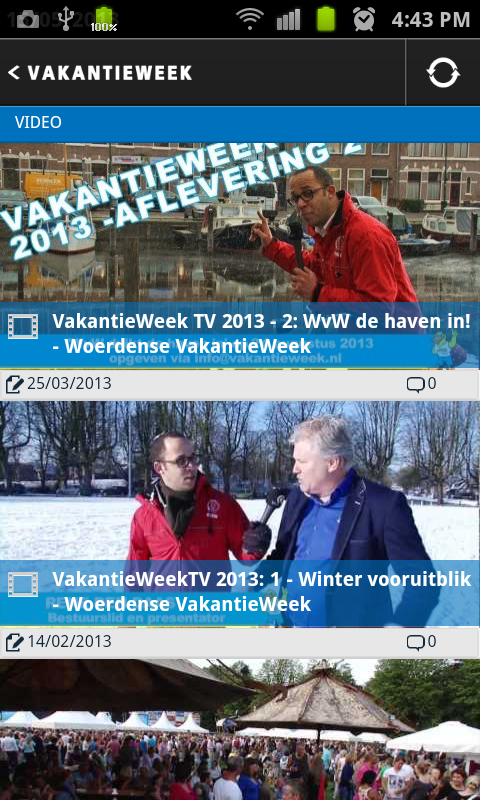 VakantieWeek - screenshot
